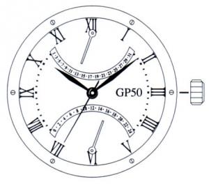Miyota GP50 verwendetes Laufwerk
